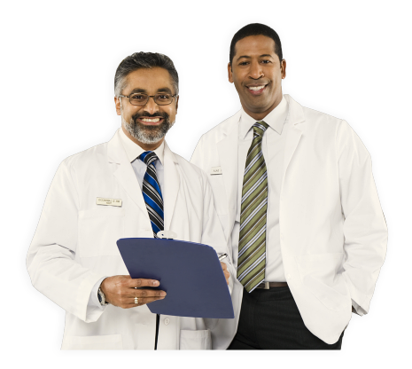 two male pharmacists smiling